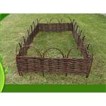 10 Piece Bed Edging 90 x 52 cm Garden Boardering Fence Walkaway Boarders Wooden Pic:3