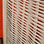 Paravent Raumteiler shabby braun/beige gestreift Pic:4