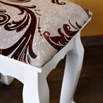 Stool Vanity Ottoman Dressing Table Makeup Stand White Country House Style Pic:1