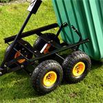 Trolley Rolling Cart Equipment Cart Wheelbarrow Handcart Dumpcart Pic:1