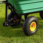 Trolley Rolling Cart Equipment Cart Wheelbarrow Handcart Dumpcart Pic:3