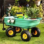 Trolley Rolling Cart Equipment Cart Wheelbarrow Handcart Dumpcart Pic:5