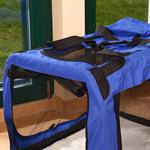 L Faltbare Hunde Transportbox in blau Pic:1