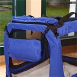 L Faltbare Hunde Transportbox in blau Pic:2
