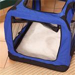 L Faltbare Hunde Transportbox in blau Pic:3
