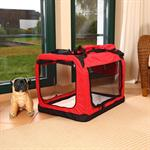 Foldable Dog/Puppy Animal Pet Carrier Transport Box Basket Cushion Red Size L