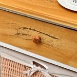 Kommode mit Korb und Schublade weiß/hellbraun Pic:3