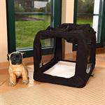 Foldable Dog/Puppy Animal Pet Carrier Transport Box Basket Cushion Black Size L Pic:3