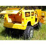 XXL 72cm RC Hummer yellow Light + Sound Effects 1:6 Jeep Truck Remote Control Pic:2