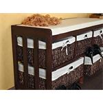 Wooden Seating Bench Trunk+Storage Baskets+Cushion Drawer Chest Seat Pic:2