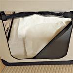 Foldable Dog/Puppy Animal Pet Carrier Transport Box Basket + Cushion Beige 82cm Pic:3