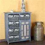 Country Style Dresser Hallway Shelf Sideboard Shabby Blue Grey Bathroom Cabinet