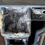 Kommode Schrank Vintage  inkl.5 Körbe grau Pic:2