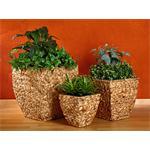 3x Handmade Large Flower Plant Pot Planter Set Floor Vase Funnel Set