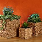 3 Flower Pot Set Planter Container Vase Tub Water Hyacinth Natural