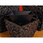 3 Flower Pot Set Planter Container Vase Tub Water Hyacinth Natural Pic:3