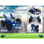 RC Amphibia Vehicle Car Boat Road/Water Remote Control Play Toy Blue