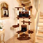 XXL 203 cm Cat Scratching Post Tree Scratch Cats Furniture Sisal Black Brown