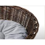 Cat/Dog Pet Basket Bassinet Sofa Sleeping Bed + Cushions 85cm Pic:3