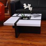 Designer Couchtisch Wohnzimmertisch weiß / schwarz