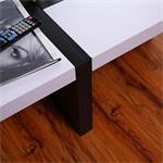 Designer Couchtisch Wohnzimmertisch weiß / schwarz Pic:3