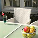 Polyrattan Garden Furniture Garden Set in White 13 Parts Pic:1