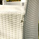 Polyrattan Garden Furniture Garden Set in White 13 Parts Pic:2