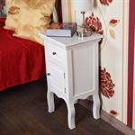 Country House Night Bedside Table Dresser Cabinet+Drawers White Pic:3