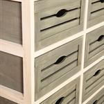 Kommode mit 8 Schubladen shabby braun/grau/weiß Pic:2