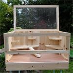 Kleintierstall / Hamsterkäfig / Mäusekäfig Holz