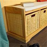 Sitzbank Truhe Kommode inkl. Körben Pic:1