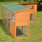 440cm Rabbit Cage Hutch Outdoor Pen Open-Air Enclosure Cage Rodent Stall Pic:7