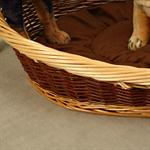 70cm Dog Bed Puppy Basket Pet Sofa Sleeping Willow + Cushions Brown/Natural Pic:1