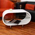 Cocktail Table Coffee Side Tables Glass-topped Table Designer White Round Lounge