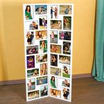 Paravent Collage XXL Picture Frame in White made of Wood