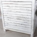 Truhe Lamellenfüllung Holz weiß/hellbraun Pic:5