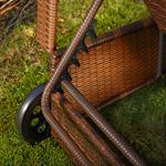 Rattan Sun Lounger Adjustable Garden Furniture Sunbed Wicker Polyrattan Brown Pic:4