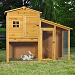 Rabbit Hutch Rabbits Stall Shed Animal Cage Rodent Bunny House Bunnies