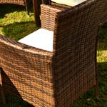 Polyrattan Garden Furniture Garden Set in Brown / Black 13 Parts Pic:1