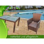Polyrattan Garden Furniture Garden Set in Brown / Black 13 Parts Pic:5