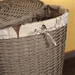 SET of 3 Hamper Laundry Basket Clothes Linen Bin Washing Container Round Brown Pic:2