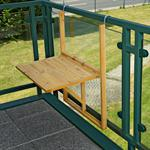Wooden Balcony Outdoor Terrace Porch Patio Rail Hang Folding Table Pic:1