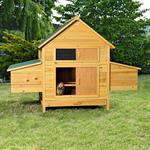 XXL Chicken Coop Henhouse Rabbit Cage Hutch Chickens Shed Animal Stall