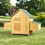 XXL Chicken Coop Henhouse Rabbit Cage Hutch Chickens Shed Animal Stall Pic:1