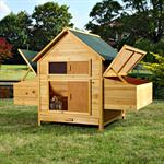 XXL Chicken Coop Henhouse Rabbit Cage Hutch Chickens Shed Animal Stall Pic:3