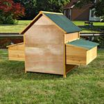 XXL Chicken Coop Henhouse Rabbit Cage Hutch Chickens Shed Animal Stall Pic:5