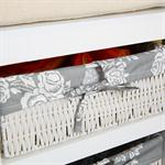 Shoe Cabinet Bench with Baskets Wood Cushions Bench Shoe Rack White Settle Pic:2