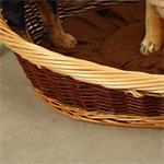 Puppy Dog/Cat/Pet Animal Basket Bed Sofa Wicker Handmade + Cushion/Pillow Pic:1