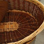 Puppy Dog/Cat/Pet Animal Basket Bed Sofa Wicker Handmade + Cushion/Pillow Pic:3