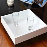 Couchtisch Beistelltisch Seidenglanz schwarz/weiß Pic:2